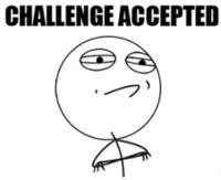 Challenge accepted шаблон