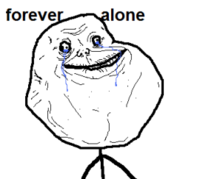 Forever Alone шаблон