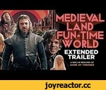 """MEDIEVAL LAND FUN-TIME WORLD"" EXTENDED TRAILER — A Bad Lip Reading of Game of Thrones,Comedy,,Theme park manager Eddie Stark has one week to whip his lackluster group of employees into shape before the park's grand opening. See outtakes here! http://youtu.be/_BiODEobbug Like on Facebook! ht"