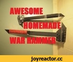 Homemade Weapon: The War Hammer (The Fledgling),Entertainment,,A war hammer made of bar stock steel, the perfect gift for your little zombie slayer. Wanna make the mask? Here's the video: http://www.youtube.com/watch?v=n_um2AMTF-w