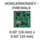 """HOWLERMONKEY -FIREWALK IJjODê 0.63"""" (16 mm) X 0.63"""" (16 mm)"""