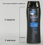 "На сколько хватает шампуня  -Sen  Щ 2-in-1  ji-J ocean charge  shampoo  ♦ conditioner  (l«*nt » (Ondlttom •II »n one strp  Tmonmovcn I m шли I **«»""< *••  «r[CREW  ОДНУ SHAMPOO )  18.1 floz (535ml)  2 месяца"
