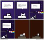 Чёртовы коты заполонили Ютьюб. Снимают всякий бред и получают миллионы просмотров... Но ничего! Мы снимем такой бред, на который ни один кот не способен! Напомним людям, кто милее всех! ш13| http://umpop.livejournil.coni Я назову это «Муап Оод». Да, гениально! СоруИдЬс 2011 1у4п ЕггЬоу