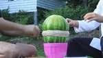 Rubber Watermelon Trick: Slow-Mo