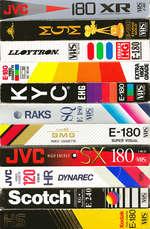 VIDIOCAHITTL E 240 ШНЙ Kodak K E180 VIDEO CASSETTE VMS ftl SCCAM [gg ■ grade EH E-180 GOLD CD □ IX 2 LVhs