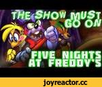 """""""The Show Must Go On"""" - Five Nights at Freddy's ROCK SONG by MandoPony,Music,,GET THE TRACK (including karaoke): https://mandopony.bandcamp.com/album/the-show-must-go-on What?! You guys didn't think I'd just leave it at one song, did you? This song is a sort of spiritual sequel to """"Survive the"""
