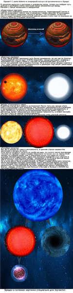 й Привет! С вами Ке1еуга и очередной выпуск астрономического бреда! В прошлом выпуске я рассказал о рождении звезд, теперь мы пойдем чуть альше и разберем этапы эволюции выше обозначенных звезд, ачнем с самых маленьких и невзрачных «Коричневые карлики» Судьба этих недозвезд ничем не примечатель