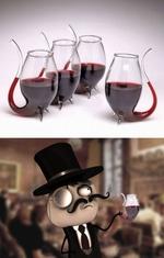 бокалы для вина в виде трубки
