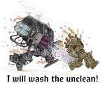 î uiill uiash the unclean!