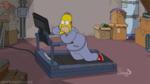 Гомер ползает по беговой дорожке