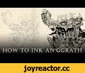 """WARHAMMER 40k An'ggrath Speed-Inking full process (how to ink An'ggrath) ep. 05,Gaming,inker,adobe photoshop,drawing,painting,artist,speed,drawings,chaos,anomaly world,egor klyuchnyk,inking,warhammer 40000,time lapse,art,warhammer fantasy,how to,An'ggrath,Photoshop,Speed-Inking Tutorial video """"How"""