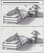Будильник: BRRRRRR, Акула хвостом: тишина...