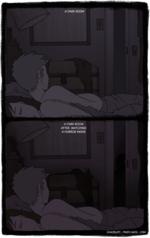 Тёмная комната и Тёмная комната после просмотра страшного фильма