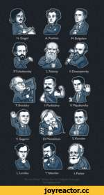 "P. Tchaikovsky F. Dostoyevsky L. Landau Y.Yakovlev I. Pavlov Russian Minds"" Sticker Pack for Telegram Messenger Ф $ by Nightgrowlef$ <5 ^"