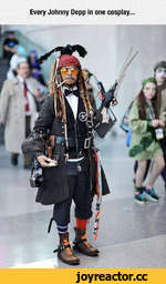 Every Johnny Depp in one cosplay.