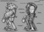 Терминаторская силовая броня BY GRAY-SKULL Магнитная катушка-генератор Система управления силовой броней Сабатон с магнитной подошвой Тактическая камера Вокс-передатчик, Респираторная система Субатомный реактор Система охлаждения Радиаторная решетка