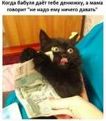 """Когда бабуля даёт тебе денюжку, а мама говорит """"не надо ему ничего давать"""""""