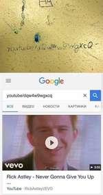 yi;U • f W&v/X s'^Q.X'cQ V Google Rick Astley - Never Gonna Give You Up YouTube RickAstleyVEVO
