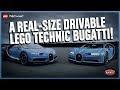 The Amazing Life-size LEGO Technic Bugatti Chiron that DRIVES!,Entertainment,LEGO,LEGOS,LEGO sets,LEGO build,LEGO make,LEGO animation,LEGO series,LEGO Technic,1:1,LEGO Cars,Bugatti,real size,Chiron,Andy Wallace,Amazing machine,Cars,When we say with LEGO Technic you can BUILD FOR REAL, we really