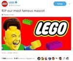 LEGO ft @LEGO_Group RIP our most famous mascot ф Перевести твит 12:32 - 30 авг. 2018 г. 1 864 ретвита 3 421 отметка «Нравится» О §> $ Ф Ф % ? *;*