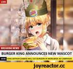 LIVE KING ARTHUR [SABER] WILL EAT BURGERS IN WORLWIDE AD CAMPAIGN BURGER KING ANNOUNCES NEW MASCOT