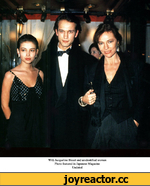 With Jacqueline Bisset and unidentified woman Photo featured in Japanese Magazine Undated
