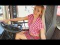 Pretty Girl Tractor Driver JCB Destroyer VOLVO Loader Dump Truck Modern Mega Machine Heavy Equipment,Science & Technology,CASE,комбайн,sunflower,header,украина,Spain,europe,agro,sugar beet,John Deere,cultivator,Pretty Girl,young,Tractor,Vaderstad,Carrier,Agriculture,Farming,Mega Machines,Heavy Equip
