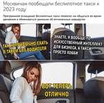 Москвичам пообещали беспилотное такси к 2023 году Программное оснащение беспилотных такси позволит им общаться во время движения и обмениваться данными об оптимальных маршрутах