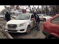 В Ростове сегодня на старом автовокзале напротив Олимпа таксист нелегал разбил кастетом стёкла в маш,People & Blogs,,В Ростове сегодня на старом автовокзале напротив Олимпа таксист-нелегал разбил кастетом стёкла в машине Яндекс такси за то, что он подъехал в их зону и подобрал пассажирку.   Там пост