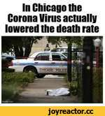 In Chicago the Corona Virus actually lowered the death rate