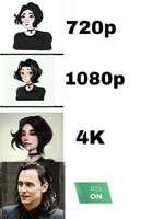 720p 1080p 4K