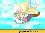 fluttershy-J. ',my little pony,Мой маленький пони,Спайк,Flattershy,mlp art,mane 6,Fluttershy,Флаттершай,Spike,Спайк...