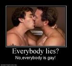 Everybody lies? No,everybody is gay! demotivators.ru