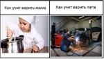 Как учит варить мама Как учит варить папа .V ,