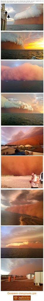 """г&^ЛоукеасЛог Твоё хорошее настроение Предлагаю вам посмотреть на это невероятное явление, которое надвигалось на побережье удивительной """"волной"""" из песка и пыли красного цвета. Скдеино спецально для"""