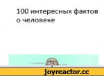 100 интересных фактов о человеке