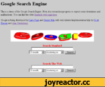 Google Search Engine This is a demo of the Google Search Engine. Note, it is research in progress so expect some downtimes and malfunctions. You can find the older Backrub web page here. Google is being developed by Larry Page and Sergey Brin with very talented implementation help by Scott Ha