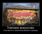 •Sb. ■ а к   ШШь т&п&йг* Egfe Wit1 'Л  Уличное искусство. Отличается от твоей каляки-маляки в подъезде.