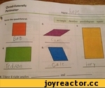 Qu a dril a te ral s; Perimeter Harne the quadrilateral. 1. T(d ,v>n 6 I have 4 right angles. rhombus parallelogram square 3.