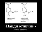 ОЕМОПУАТОЛБ.ТО Найди отличие - получи Нобелевку, НатуральныйИдентичный ванилиннатуральному ванилин