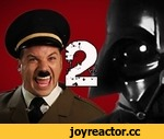 Hitler vs Vader 2.  Epic Rap Battles of History Season 2.,Music,,Download this song: http://bit.ly/VaderHitler2 Click to tweet this vid-ee-oh: http://clicktotweet.com/qaMyU  vader hitler shirts: http://bit.ly/KduR3Q  Hi. My name is Nice Peter, and this is the beginning of Epic Rap Battles of