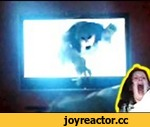 The Ring Style Wake Up Prank! - The Official Video - - Waking up to a Ghost coming out of TV screen,Comedy,,I wanted to see how my girlfriend would react to a ghost coming out the tv trying to grab hold of her. I did it by creating a ghost like puppet that would clamp to the tv screen.  To use this